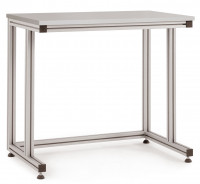 Grundpulttisch ALU Linoleum 22 mm für stehende Tätigkeiten 1000 / 800