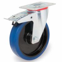 Elastik-Lenkrolle mit Stopp auf Alu-Felgen 300 / 11