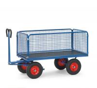 Handpritschenwagen mit Drahtgitterwänden, Luft-Bereifung 1250 / 2000 x 1000