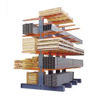 Kragarmregale extra schwer, zweiseitige Ausführung, Höhe 3496 mm 4202 / 2x1200