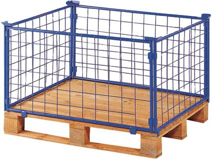 Palettenaufsatz mit Gitter - 1 Seite mit Klappe