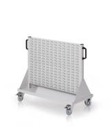 Rollwagen mit Sichtlagerkästen, Doppelseitig Nutzung, Höhe 890 mm zur Selbstbestückung