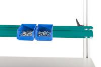 Boxenträgerschiene leitfähig 1600 / Wasserblau RAL 5021