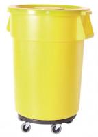 Runder Mehrzweckbehälter, Volumen 75 Liter Weiß