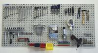 Werkzeug-Lochplatten zur Wandbefestigung Lichtgrau RAL 7035 / 1200
