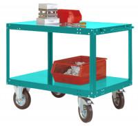 Schwerer Tischwagen TRANSOMOBIL Wasserblau RAL 5021 / 1500 x 800