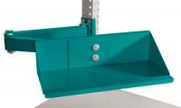 Sichtboxen-Regal-Halter-Element Wasserblau RAL 5021 / Doppelgelenk