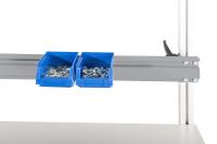 Boxenträgerschiene leitfähig 1600 / Alusilber ähnlich RAL 9006