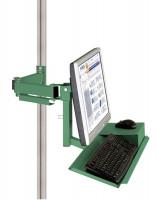 Monitorträger mit Tastatur- und Mausfläche 75 / Resedagrün RAL 6011