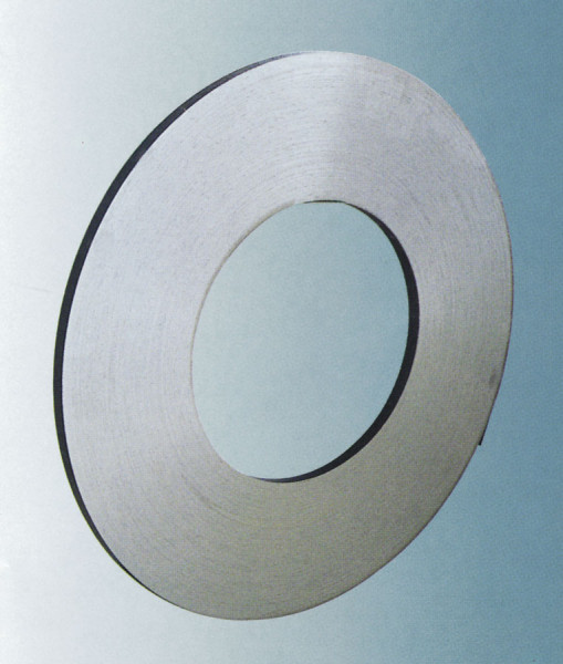 Einlagiges Stahlband, schwarz