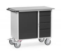 Werkstattwagen Grey Edition ohne Abrollrand / 1 Schrank und 4 Schubladen