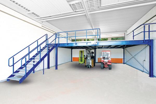Eckanbaufeld fürBühnen-Modulsystem, Tragkraft 500 kg / m²