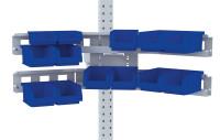 Cockpit Boxenträger-Element mit Einfach oder Doppelträger für MULTIPLAN Arbeitstische Einfachträger / Lichtgrau RAL 7035