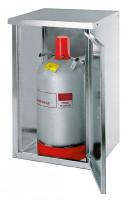 Propangasflaschenschrank, glatte Türen 750 x 460 x 400 / 750 / 1x11 kg