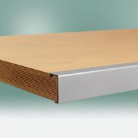 Werkbankplatte Multiplex geölt 40 mm, mit Stahlkante 1000 / 600