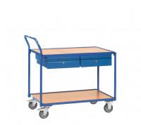 Tischwagen mit 2 Schubladen 600 / 1000