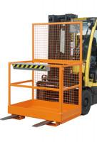 Arbeitsbühne für Gabelstapler Gelborange RAL 2000 / 800 x 1200