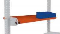 Neigbare Ablagekonsole für MULTIPLAN Arbeitstische 1250 / 495 / Rotorange RAL 2001