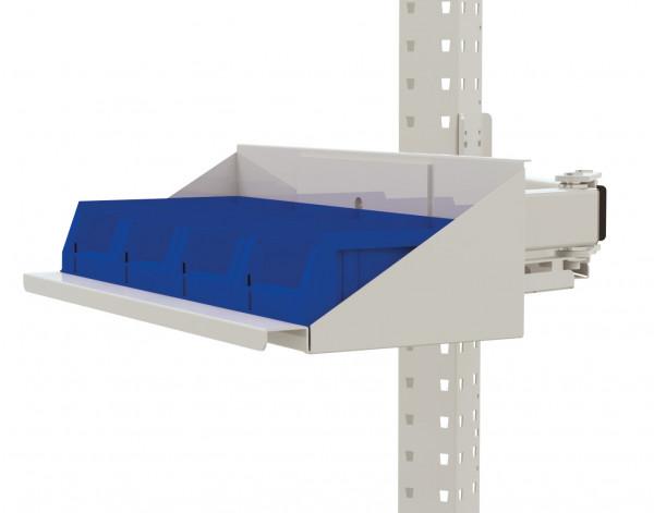 Sichtboxen-Regal-Halter-Element für MULTIPLAN Arbeitstische
