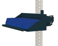 Sichtboxen-Regal-Halter-Element für MULTIPLAN Arbeitstische Anthrazit RAL 7016