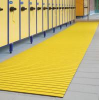Bodenmatte aus Hart-PVC, 12,0 mm, Lfdm. Gelb / 1000