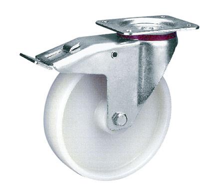 Lenkrolle mit Doppelstopp aus Polyamid
