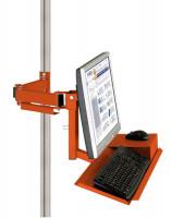 Monitorträger mit Tastatur- und Mausfläche leitfähig 100 / Rotorange RAL 2001