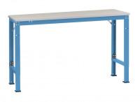 Grundarbeitstisch UNIVERSAL Spezial, Kunststoff 22 mm Lichtblau RAL 5012 / 1500 / 600