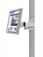 Monitorträger für MULTIPLAN / PROFIPLAN, Doppelgelenk 500 mm Lichtgrau RAL 7035 / 75