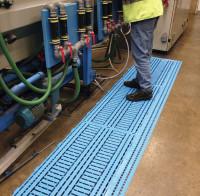 Werkbank- und Maschinenroste, 25 mm hoch Platte / Blau