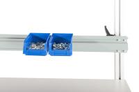 Boxenträgerschiene 40 kg Tragkraft Lichtgrau RAL 7035 / 1600