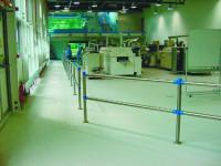 System-Sicherheitsgeländer, Querrohre schwer mit 60 mm Gesamtbreite/Durchmesser und 2000 mm Höhe Edelstahl / Edelstahl
