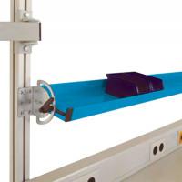 Neigbare Ablagekonsolen für Alu-Aufbauportale 2000 / 345 / Lichtblau RAL 5012