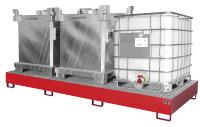 Auffangwannen für Tankcontainer und Fässer Feuerrot RAL 3000 / 3850
