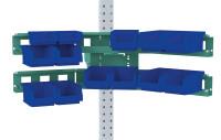 Cockpit Boxenträger-Element mit Einfach oder Doppelträger für MULTIPLAN Arbeitstische Graugrün HF 0001 / Doppelträger