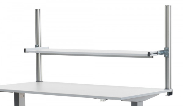 2 Aufbausäulen E-LINE, Nutzhöhe 700 mm, für alle Tischbreiten