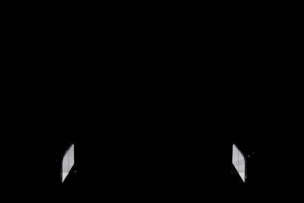 BASIC Tischtrennwand, transparent, inkl. Füße, H x B x T 700 x 850 x 240 mm
