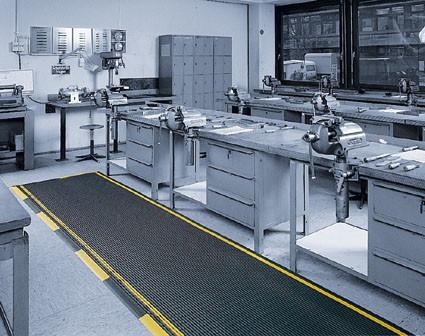 Industrie-Sicherheitsmatten, Stärke 12.5 mm, Schwarz/Gelb