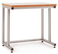Grundpulttisch ALU Kunststoff 22 mm für stehende Tätigkeiten 1500 / 800