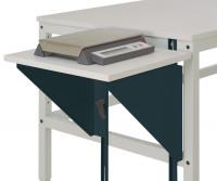 Höhenverstellbarer Tischansatz UNIVERSAL Anthrazit RAL 7016 / 1200