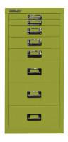 Schubladenschrank mit 8 Schubladen für DIN A4 ohne Sockel / Blau