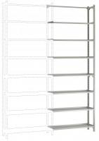 REGISTRA Archiv Standard Einfach-Anbauregal, beidseitige Nutzung 2600 / Beidseitig (Längsverbinder)