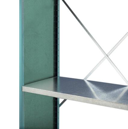 Regalrahmen PLANAFIX Premium mit pulverbeschichteter Stirnwand, Höhe 2000 mm