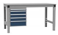 Schubfach-Unterbauten MULTIPLAN, stationär, 1x50, 3x100, 1x150 mm 700 / Lichtgrau RAL 7035