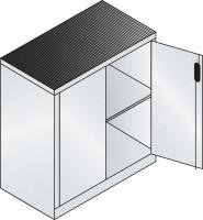 C+P Beistell-Werkzeugschrank mit Vollblech-Flügeltüren, HxB 1000 x 930 mm 500 / Alusilber ähnlich RAL 9006