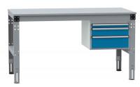 Schubfach-Unterbauten MULTIPLAN, stationär, 1x50, 1x100, 1x150 mm Brillantblau RAL 5007 / 800