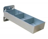 Kleinteileablage, Breite x Nutztiefe 150 x 56 Alusilber RAL 9006 / Ohne Einteilung