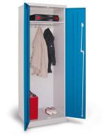 Mehrzweck-Garderobenschrank, durchgehend, mit Sockel Anthrazit RAL 7016