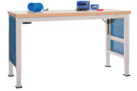 Grundwerkbank Kunststoff 40 mm PROFI ERGO E Elektro mit Memory Funktion - Großformat 800 / Lichtgrau RAL 7035