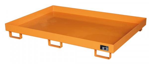 Auffangwanne für Palettenregale, zur Fasslagerung, LxBxH 2150 x 1300 x 225 mm